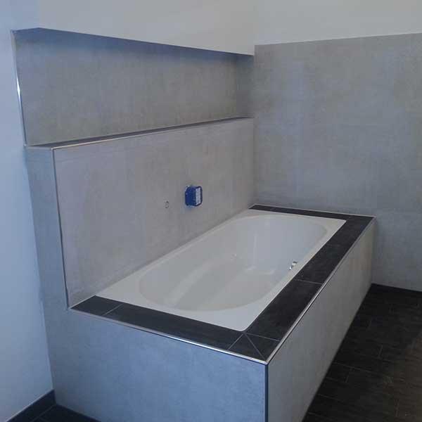 Badezimmer Wanne Fliesen